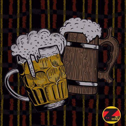 Beer mugs, Zwei Brewery logo