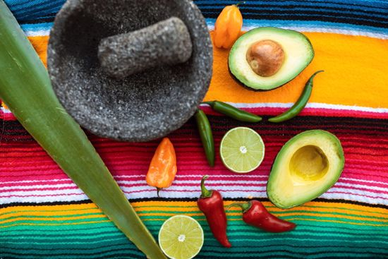 Avocado and peppers