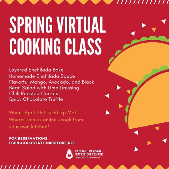 spring virtual cooking class